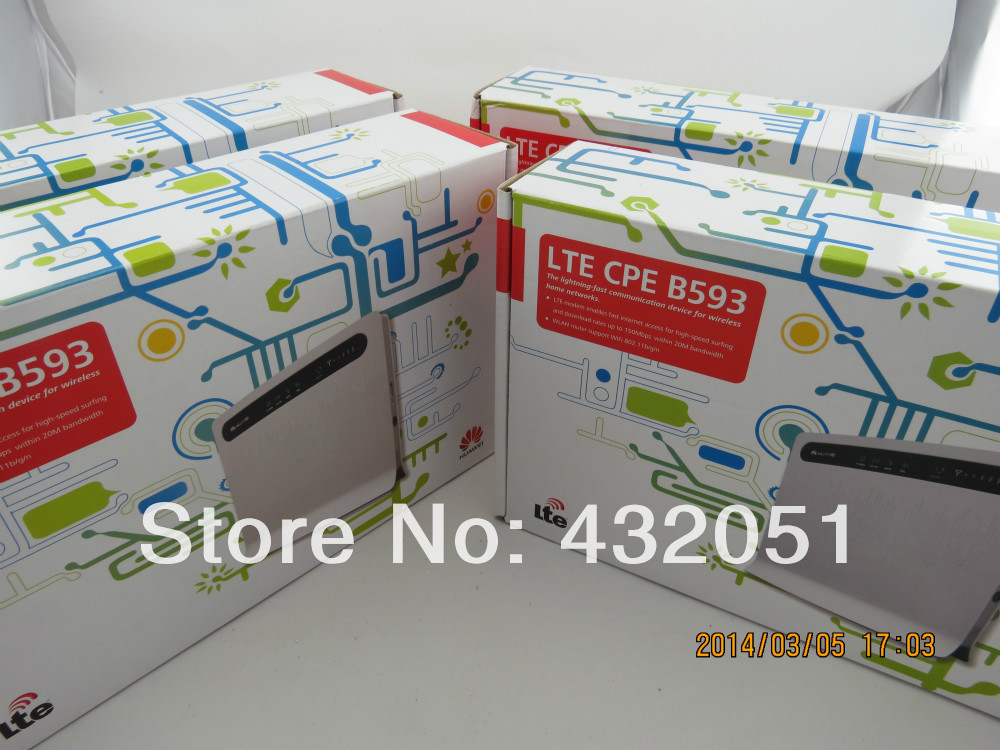 Orignal and brand new huawei B593S 22 LTE TDD wireless broadband router