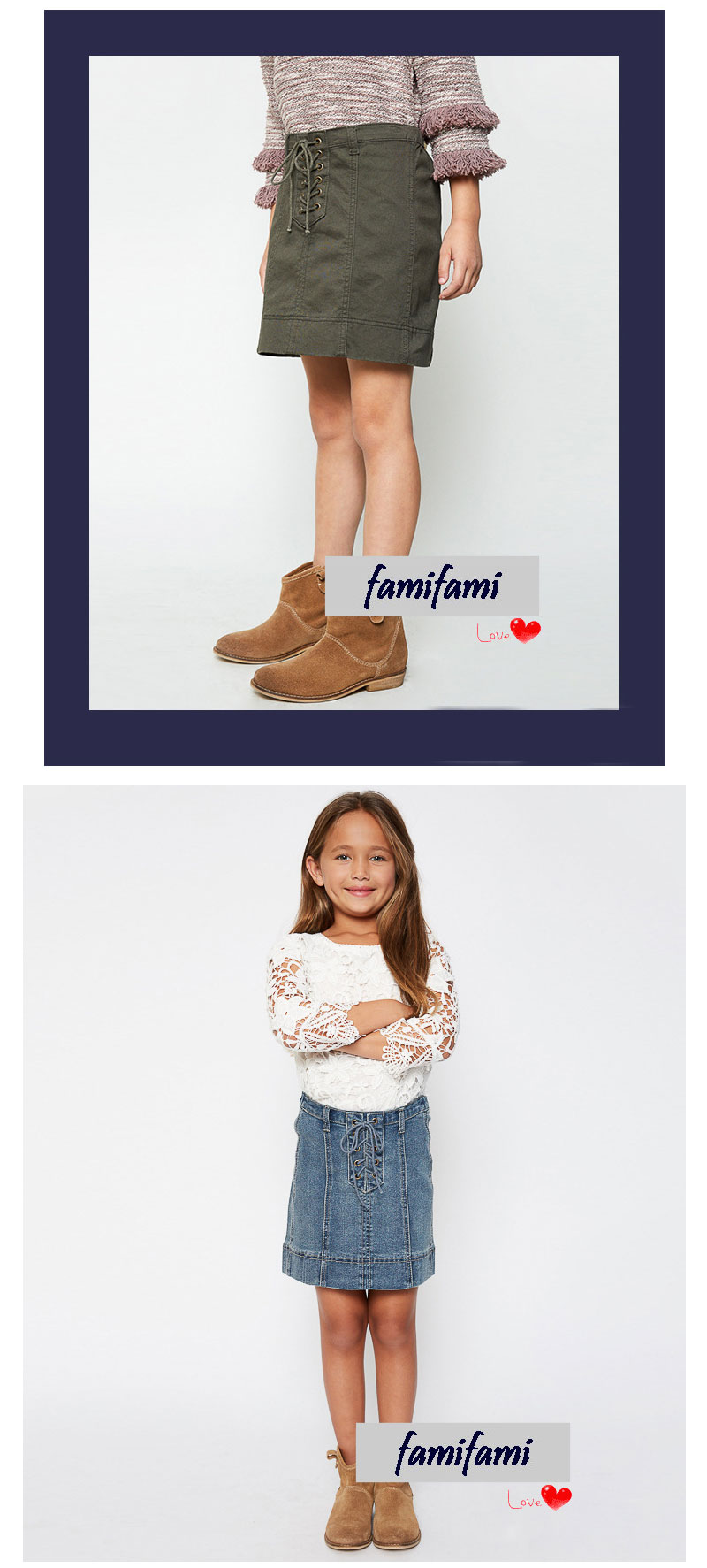 girls jeans skirt G2078-8