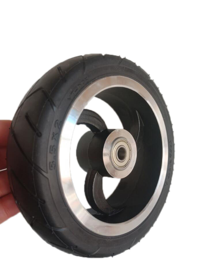Carbon Fiber Electric Scooter 5.5 Inch Tyre Rubber Tire