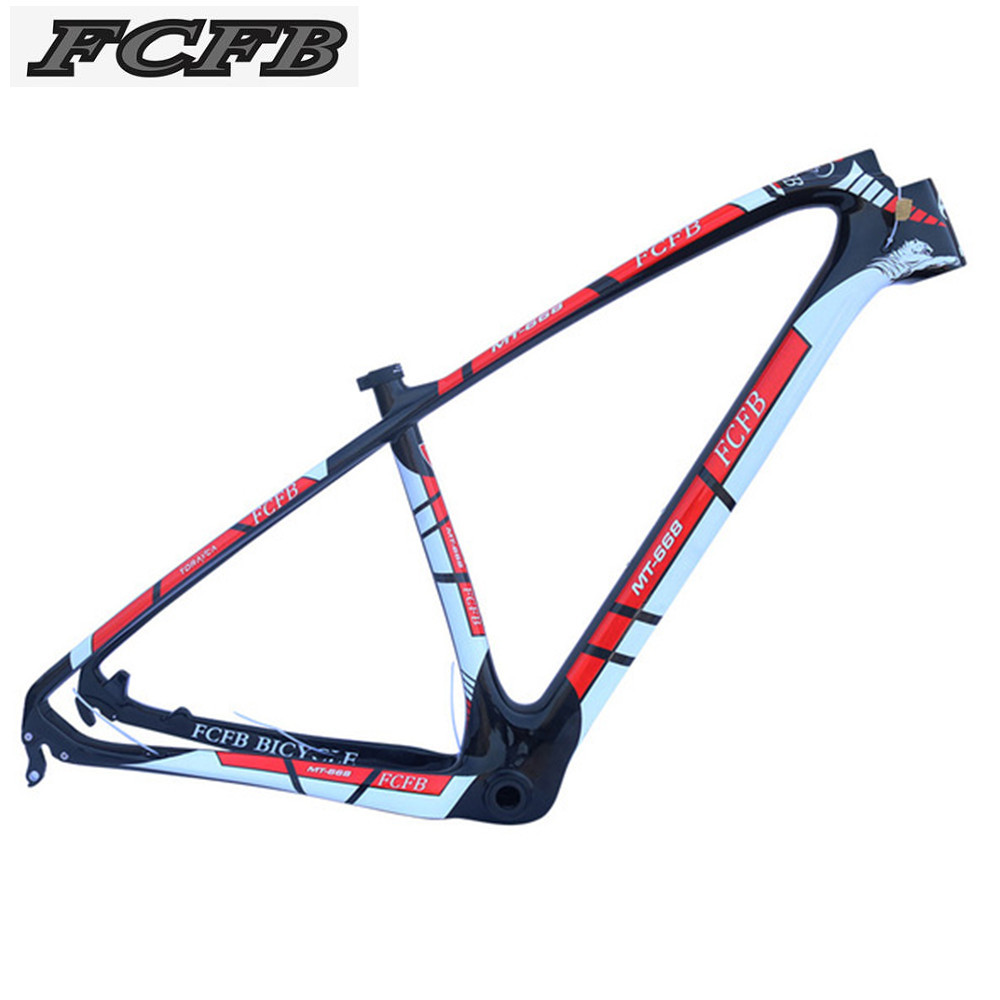super light 29er 27 5er fat tire mountain bike new carbon frame through axle mtb frame 2017 FCFB  carbon mtb frame PF30 super 1150g  27er 29er  15/17/19/21inch bicycle  carbon mountain bike frame  135*9 mm 142*12mm