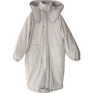 Image 3 - Autumn Winter Jacket Women Warm Parka Hooded Coats Jaqueta Feminina Jacket Outerwear Thicken Oversized Winter Female Parka Q800