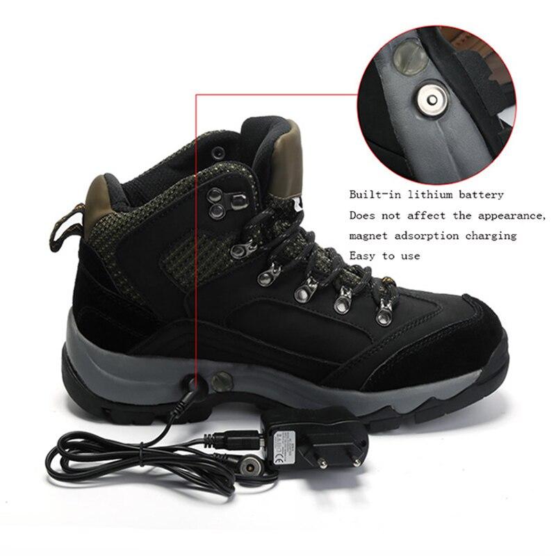 Chauffage électrique chaussures peut être chargé Lithium batterie chauffage extérieur froid chauffage chaud Couple coton décontracté hiver chaussures femme