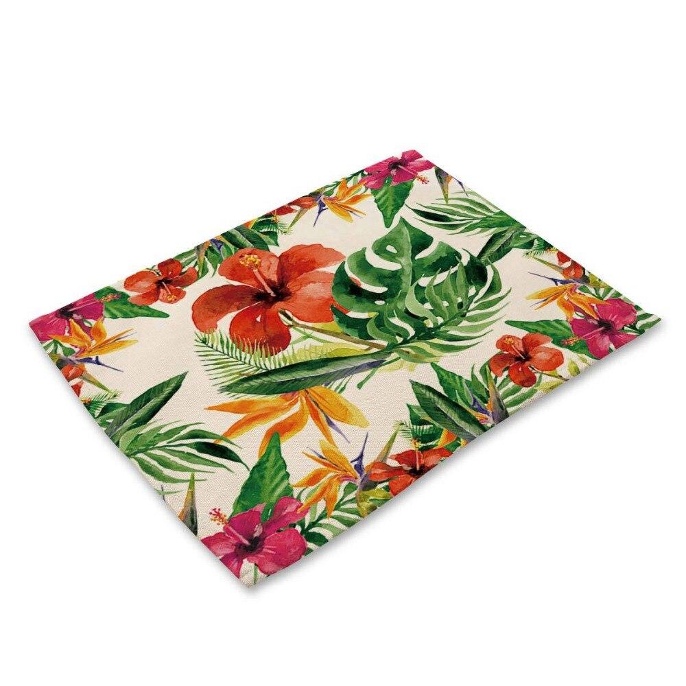 42*32cm Leaves Printed Table Napkins for Wedding Party Table Cloth Dinner Napkin Decor Home Textile guardanapos de tecido
