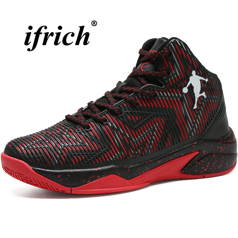 Man Basketball Shoes Black Blue Athletic Sneakers Man Cushioning Male Footwear Sports High Top Basketball Training Shoes Men