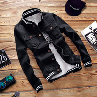 2016 Winter Men Fashion Jeans Coat Men Denim Jacket US Style Casual Jeans Jacket Plus Velvet