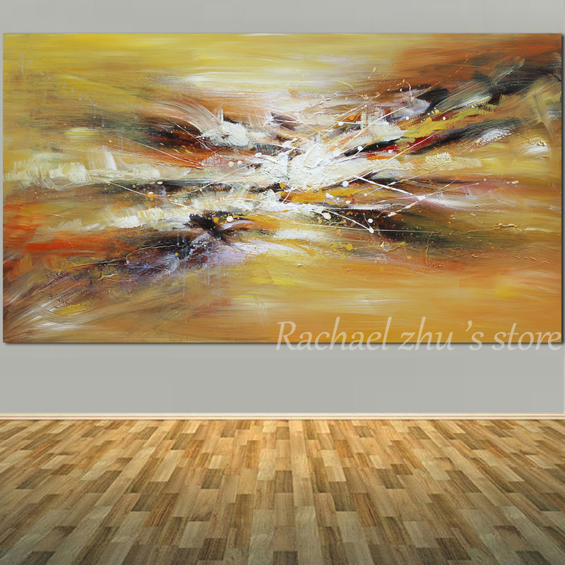 Купить с кэшбэком Large Size Hand Painted Abstract Boat Sea Beach Oil Painting On Canvas Abstract Seascape Wall Art Picture Living Room Home Decor