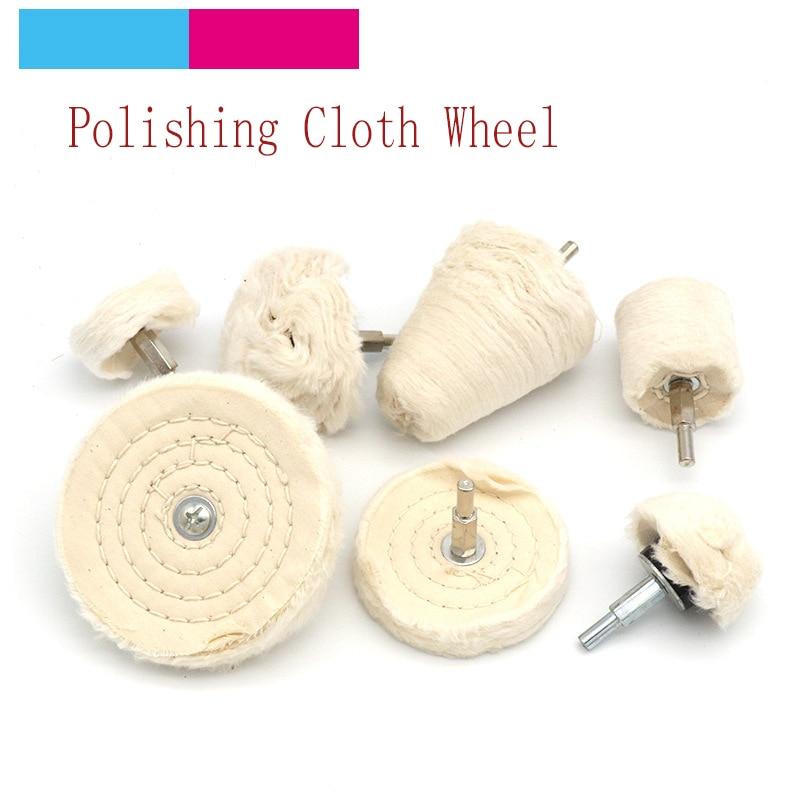4 Pcs Polishing Buffing Wheels Brush Shank Crafts Jewelery Abrasive Rotary Tools