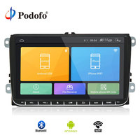 Podofo 9 дюймов Android 6,0 автомобильный радиоприемник стерео Сенсорный экран Автомобильный мультимедийный плеер 2 din радио gps Wi Fi стерео для VW Golf