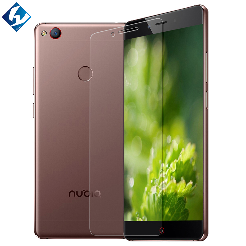 """10 pcs/lot Tempered glass film protective For ZTE Nubia Z11 NX531J 5.5"""" glass screen protector Lhoyern Brand Type-C adapter gift"""