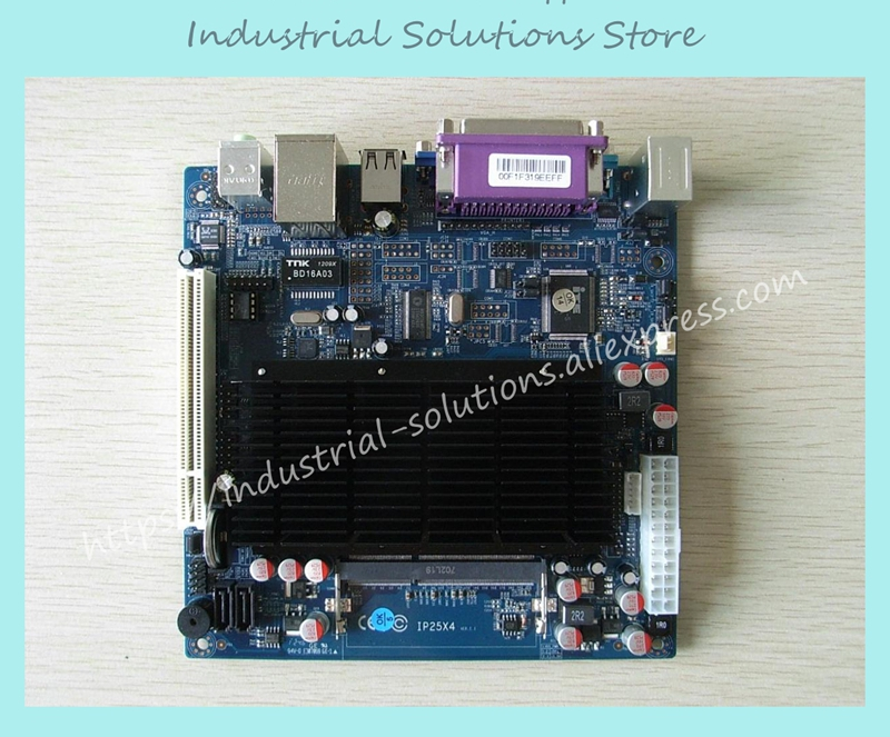 Mini-itx Motherboard D525 Single Network Serial 2 ITX-M52X21D Fan Ip25x4 100% tested perfect quality 3 5 fan car mini motherboard low power consumption e450 motherboard dual network card