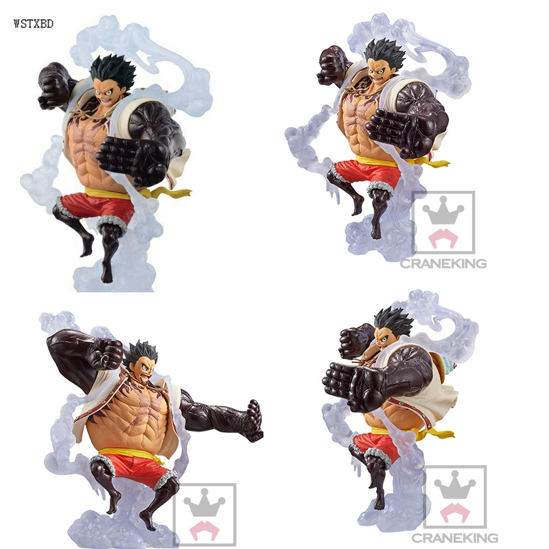 WSTXBD Original BANPRESTO One piece OP King Of Art KOA The Bound Man Fourth Gear Luffy PVC Figure Toys Figurals Model Kids Dolls