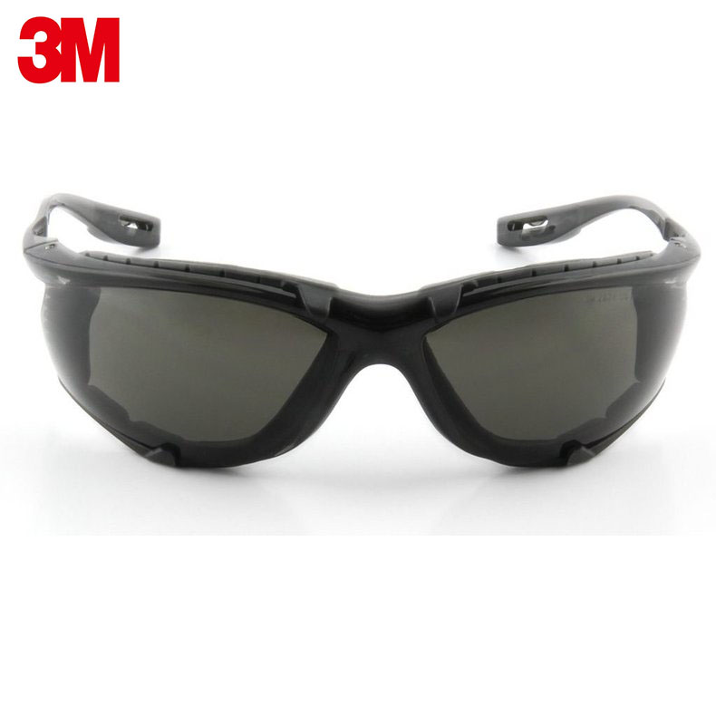 Image 2 - 3M 11873 goggles Genuine security 3M safety goggles Foam pad Frame Wearable earplugs Riding a sport protective glasses-in Safety Goggles from Security & Protection
