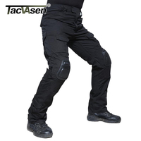Tacvasen 2017 New Men Military Pants Breathable With Knee Pads Cargo Pants Plus Size Army Soldier