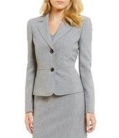 Custom Made Grey 2 Button V Neck Women's Dress Suits Formal Suits Women's Blazer Suits Office Suits 2 Piece Jacket/Dress