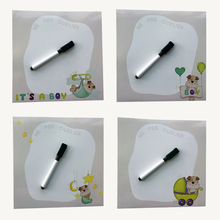 cute dog series printed Dry Erase Flexible Magnetic Whiteboard/Message board/Memo Pad/Dialog Box Magnet