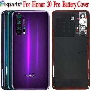 Image 1 - Huawei Honor 20 Pro 배터리 커버 도어 백 하우징 후방 케이스 명예 20 배터리 커버 도어 교체 부품