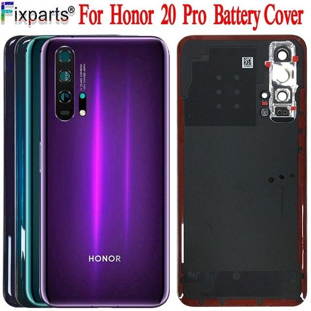Huawei Honor 20 Pro 배터리 커버 도어 백 하우징 후방 케이스 명예 20 배터리 커버 도어 교체 부품