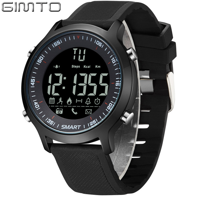 Digital Men Watch Sport Pedometer Calorie Bluetooth Led Electronics  Wristwatch Waterproof Male Army Relogio Masculino Hodinky 44 d41edd345b6