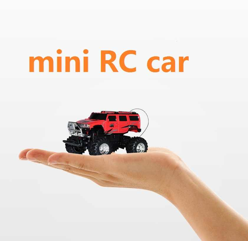 New Style RC Car Cross Country Vehicle High Speed Mini RC Car LED Light Bigfoot Hummer Car Best Gift for Kids Free Shipping