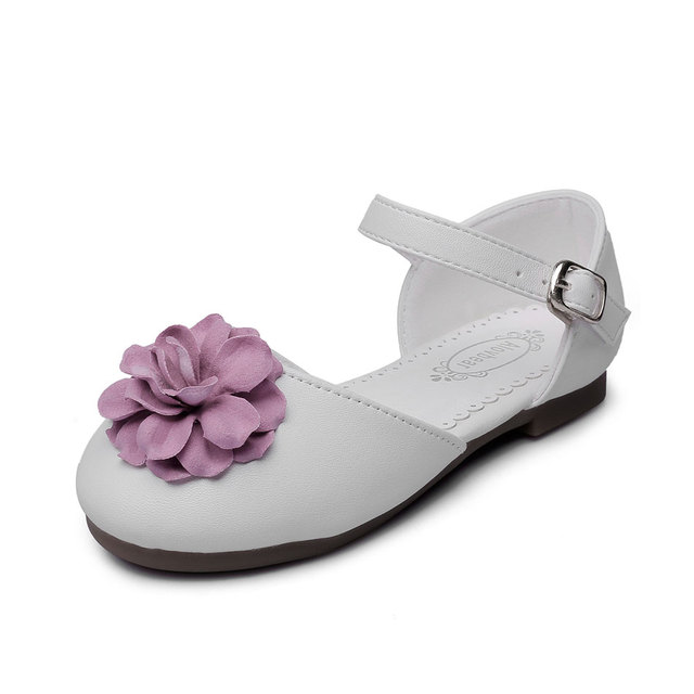 MSMAX Children Soft Leather Shoes Flower Breathable Mary Janes Girls Dress  Party Wedding Shoe Kids School Single Shoes 9e839d7709b2