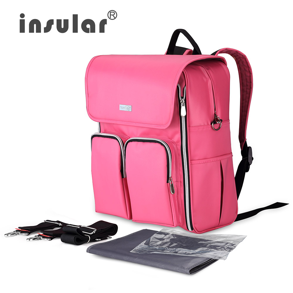 ФОТО  INSULAR Multifunctional Bolsa Maternidade Baby Diaper Bag For Mum Nappy Bag for stroller Maternity Bag Lady Handbag Backpack