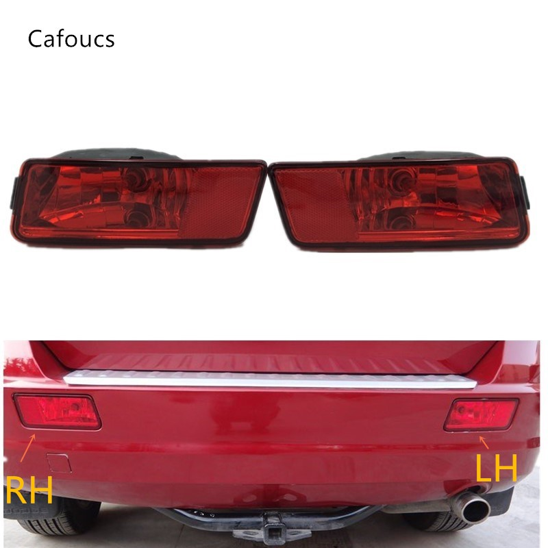 Cafoucs Rear Bumper Fog Lights Reflector Lamp with Bulb For Dodge Journey Models 2009 2010 2011