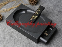 8 Rectangle Chinese Inkstone Natural Stone Paint Plate Ink Slab Drawer Shaped Calligraphy Painting Tool 18cmx12cmx4cm