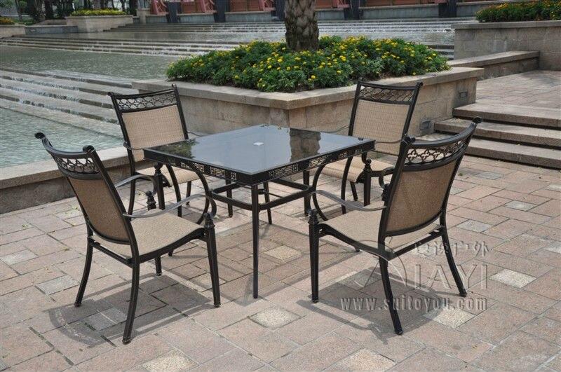 Buy 5 piece cast aluminum patio furniture outdoor for Outdoor furniture 5 piece