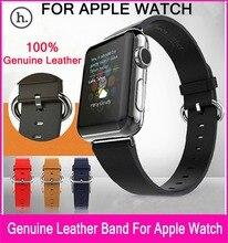 Бесплатная Доставка 100% Верхний Слой Кожаный Ремешок Для Apple Часы 42 мм 38 мм С 1:1 Оригинальный Классический Пряжки и Металла Адаптер ремешки для наручных часов