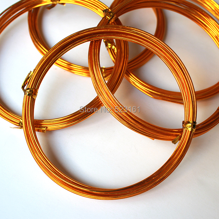 1.5mm thick anodized aluminum wire 10m 11yard 33ft gold ...