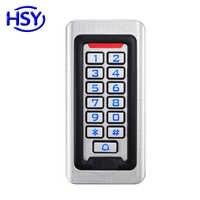 Boîtier en métal de contrôleur d'accès de porte simple de clavier numérique de silicium RFID 125 Khz EM contrôle autonome de serrure d'entrée de carte