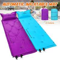 Waterproof Single Person Air Automatic Inflatable Mattress Bag Outdoor Camping Beach Mat Sleeping Picnic Cushion Pad With Pillow