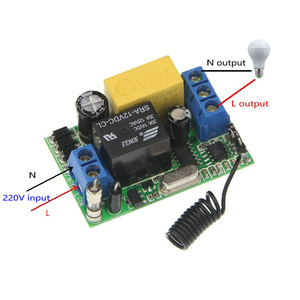 Image 4 - 3000 m ארוך מרחק AC 220 v 1 CH 1CH ממסר RF מתג שלט רחוק 2CH משדר + מיני 10A מקלט 315/433, בין מנעול