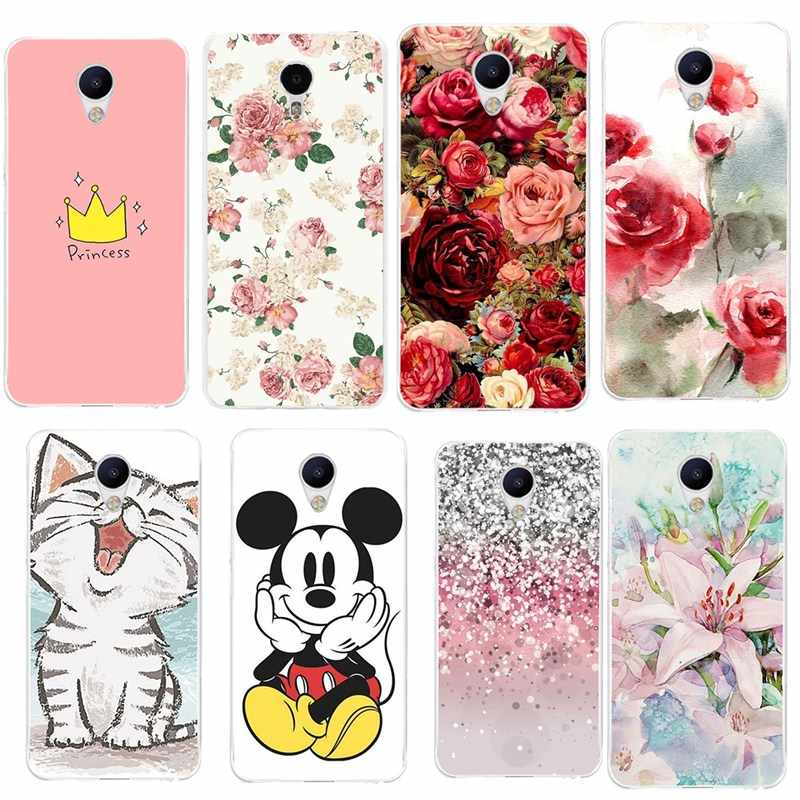 For Meizu M5S M3S Case Silicon Flower Soft Case For Meizu U10 U20 M5Note M3 Note M5C Pro6 M5 MX6 Cover Coque Funda