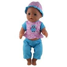 Nový styl Modrý kabát + klobouk + kalhoty, Doll Oblečení Nosit fit 43cm Baby Narozen Zapf, Nejlepší Děti Narozeninové dárky