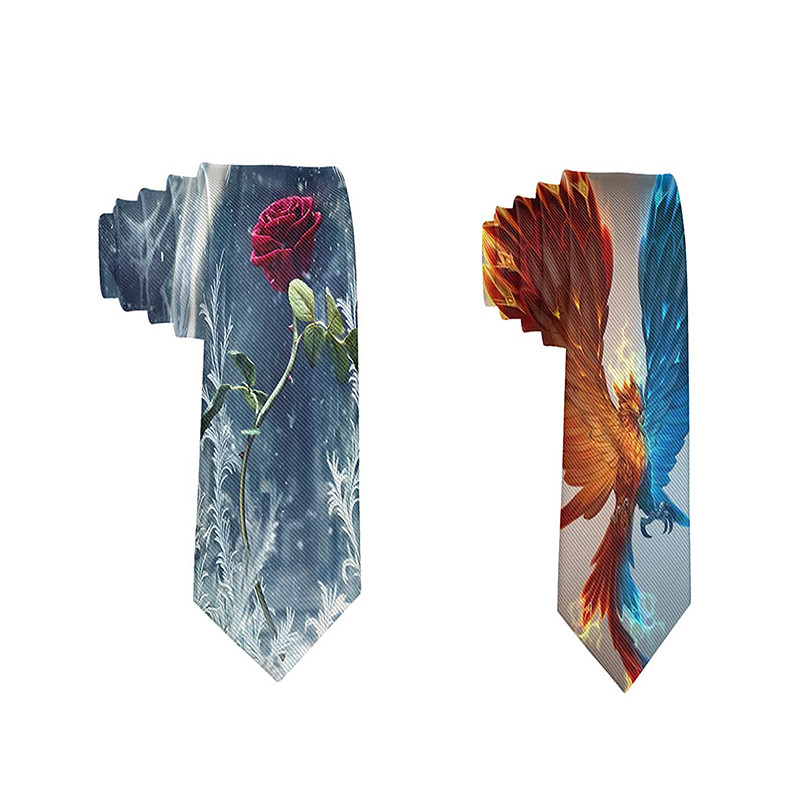 New Hot 3D Printed Men's Tie Polyester 8CM Width Butterfly Floral Tie For Men Wedding Accessories Party Banquet Necktie 5QR-LD03