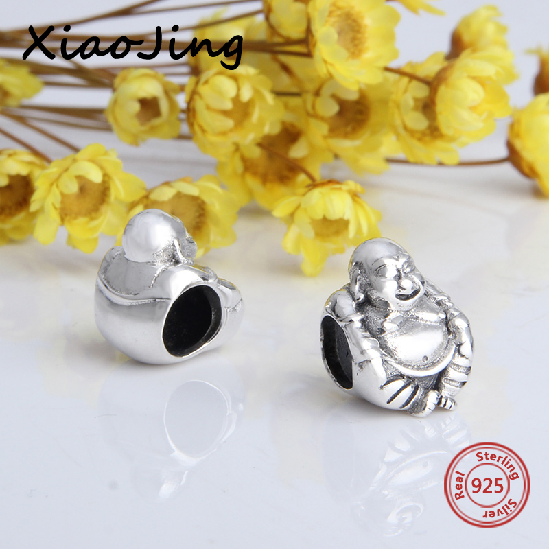 2018 new arrivals diy craft beads 925 sterling silver Buddha charms fit original pandora charms bracelet fashion jewelry making