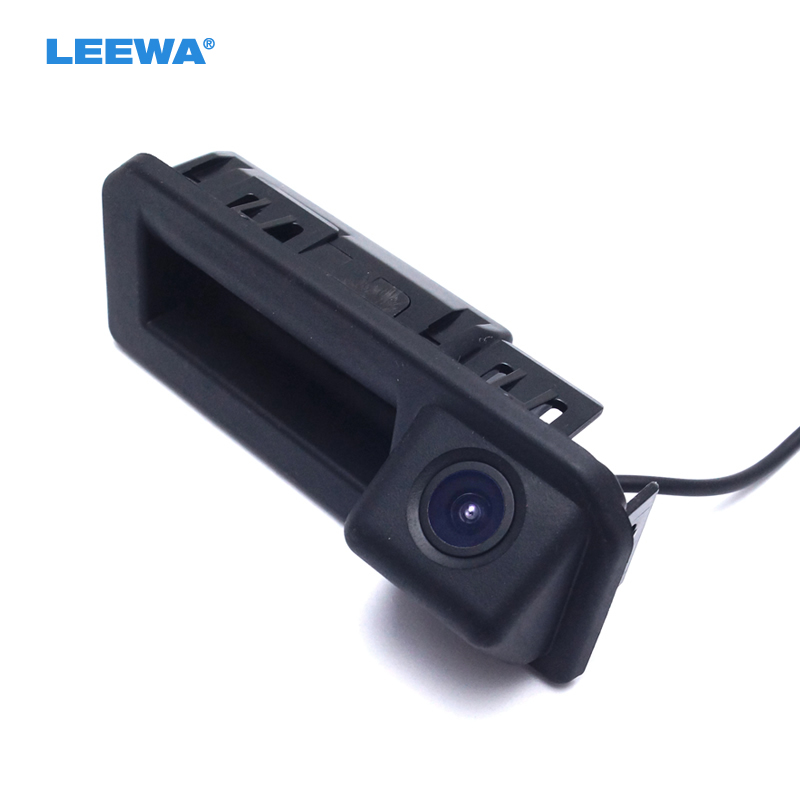 LEEWA Car Rear View Parking Trunk Handle Camera For Audi A5 2017 Specail Reverse Backup Camera #CA927 for suzuki sx4 hatchback car auto trunk handle backup rear view reverse parking camera camara kamera