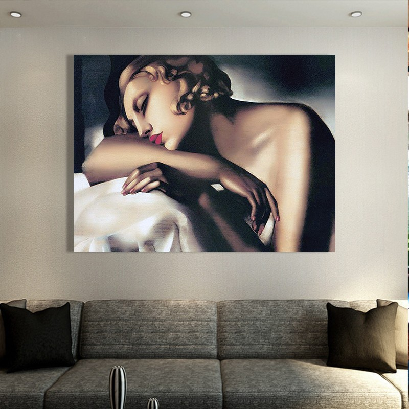 Hot Sexy Lady Painting Handed Figure Oil On Canvas For Home Wall Decor