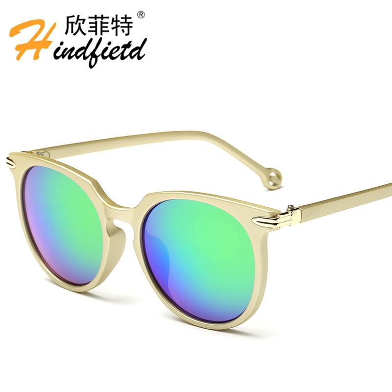 Designer Brand Fashion Unisex Sun Glasses Coating Mirror Driving Sunglasses Round Male Eyewear For Men Women Vintage Retro cool