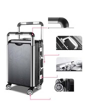 travel tale Couple Rolling Luggage Spinner Men Suitcase Wheels Women Trolley Aluminum Frame Travel Bag