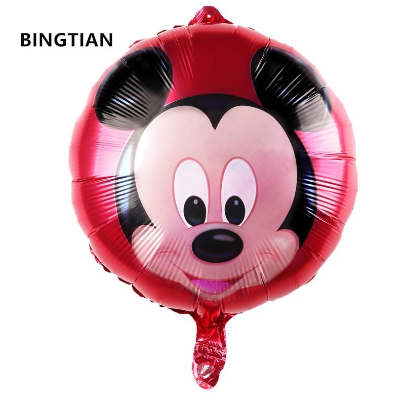 ᑎ‰Bingtian envío del nuevo Mickey globo redondo de aluminio ...
