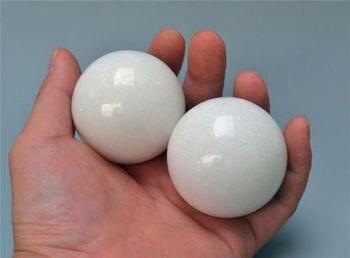 [Fly Eagle ]New una coppia Cinese Baoding palle palle salute esercizio a mano giada bianca D5cm