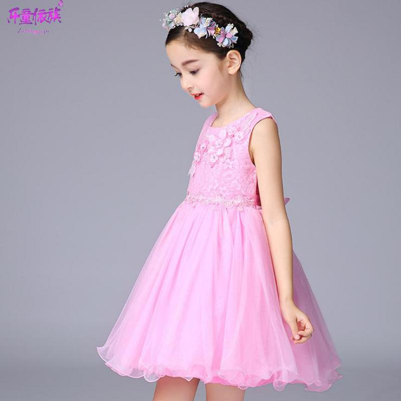 Tienda Online Niñas vestido boda dama de honor niños GIRS arco ...