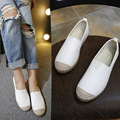 Marca CALIENTE de Alta Calidad de Las Mujeres Zapatos de Cuero Genuinos Mocasines Slip On Pisos Zapatos Hechos A Mano de Plata negro zapatos planos Slipony