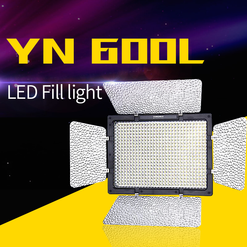 Yongnuo YN-600L 600 LED Studio Video Light 3200k-5500k Lamp Color Temperature with Remoto Control for Canon Sony Camcorder DSLR