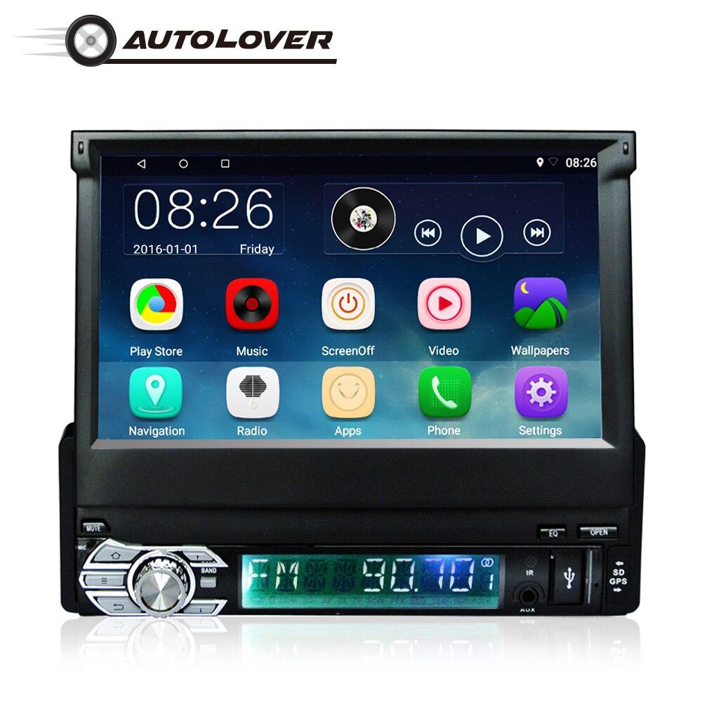 RM-CT0008 MP5 1 Din Android 6.0 Carro Para VW/TOYOTA/HONDA/JEEP GPS 7 Polegada Retrátil Toque mulltimedia Player Do Carro da tela