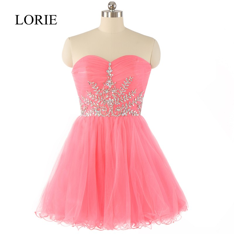 Hot Pink Tulle Prom Dresses Short 2016 Vestidos De Gala Sweetheart Beaded Formal Teens Graguation Party Dresses Off The Shoulder