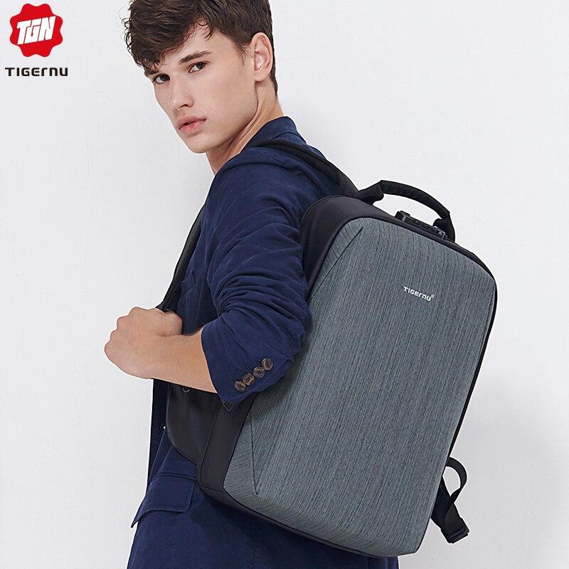 Tigernu New TSA Lock Anti Theft Backpack For 15 6 Laptop Waterproof Zipper Bagpack Man Large