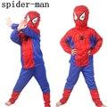 Novo Homem Aranha Crianças Conjuntos de Roupas Top + Calça + roupas máscara Do Homem Aranha Traje Cosplay Crianças Pajama Define Manga Comprida criança